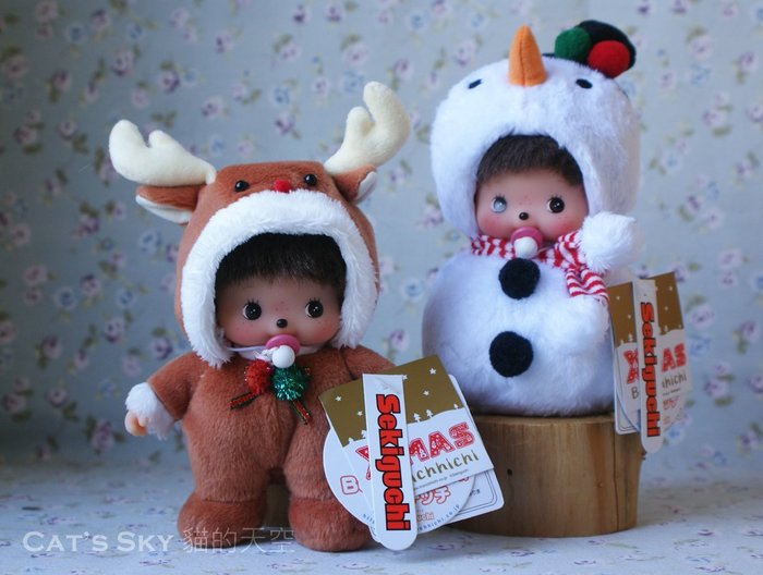 《Cat Sky》日本Bebi Monchhichi聖誕節麋鹿嬰兒夢奇奇