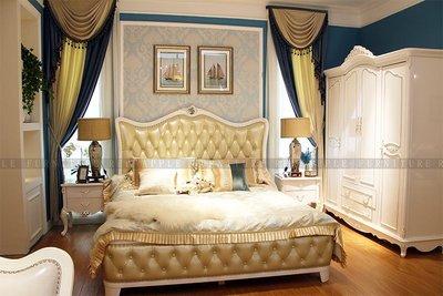 [紅蘋果傢俱] 9602 輕奢系列 6尺 床台  雙人床 實木 真皮床架