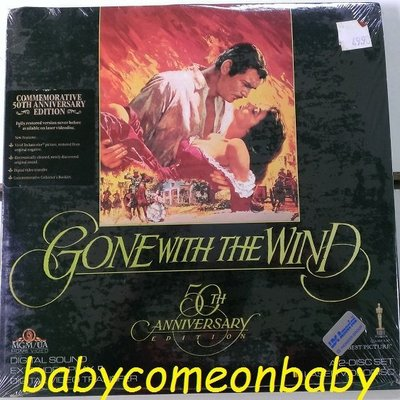 舊電影 LD Gone With The Wind 飄 亂世佳人 克拉克蓋博 費雯麗 50週年紀念版 全新未拆封
