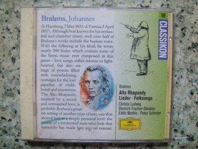CD==古典----Brahms Alto Rhapsody  Lieder Folksongs