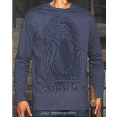 【西班牙 Abanderado】(9622 )男性舒適歐洲棉薄長袖(finger print) T-shirt (大尺碼