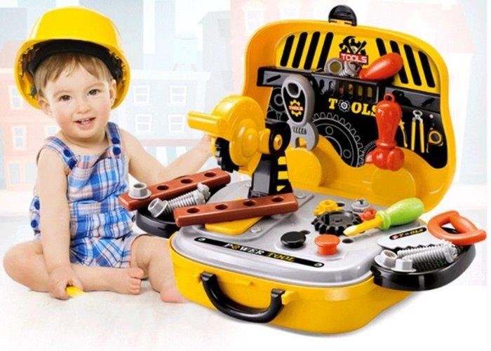 【阿LIN】901004 008-916 工具手提箱  工具組 辦家家酒 小小工程師 汽車造型可提可滑行玩具手提箱