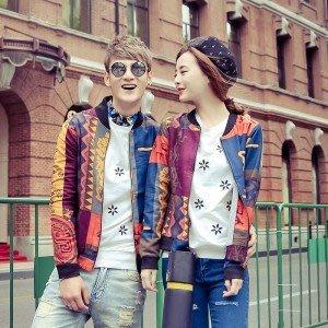 yes99buy加盟-2014秋裝新品 潮流中國風個性時尚인쇄印畫情侶夾克 韓味情侶裝外套
