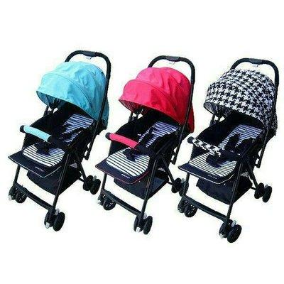 國城Mother's love-加寬版輕量雙向秒縮車嬰兒推車(藍色/紅色/千鳥格)C829