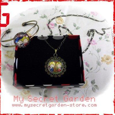 現貨 PATTY AND JIMMY卡通 Necklace Bracelet Set 時光寶石 項鏈手镯套裝