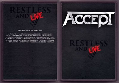 音樂居士#Accept - Restless And Live 2017 () DVD