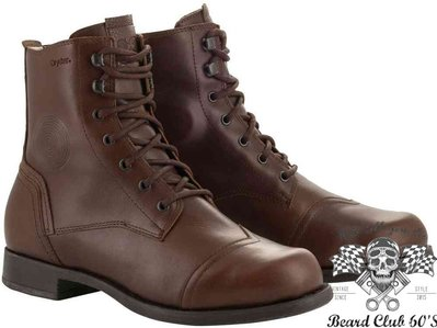 ♛大鬍子俱樂部♛ Alpinestars® Distinct Drystar 美式 復古 防水 防摔 車靴 賽車靴 棕色