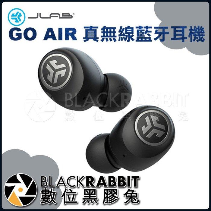 數位黑膠兔【 JLab GO AIR 真無線藍牙耳機 黑色 】 高音質 音樂 降噪 高續航 全觸控 支援單耳