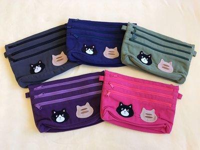 日本卡拉貓~貓咪多拉鍊防水萬用袋 收納袋
