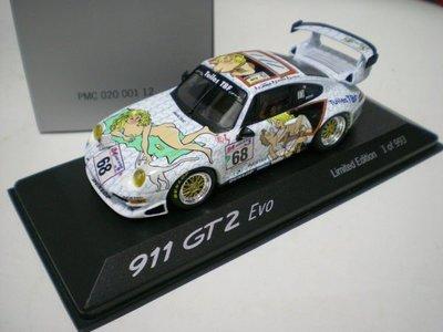 大衛拍賣網  MINICHAMPS 143 PORSCHE 911 (993) GT2 Evo - Le Mans 1998 #68