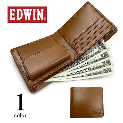 促銷!(全新現貨免運)EDWIN 真皮 對折式皮夾