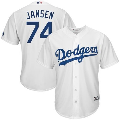 Kenley Jansen Majestic White Cool Base Home Player Jersey