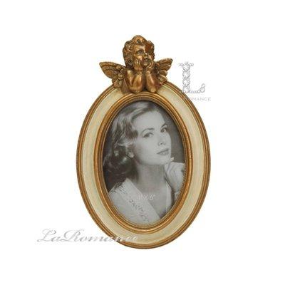 【芮洛蔓 La Romance】金色年華特價系列 - 天使橢圓4x6相框