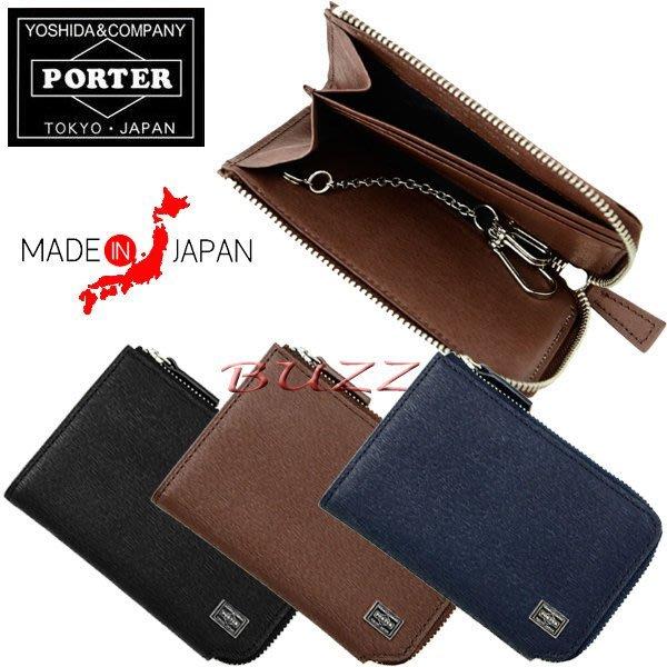 巴斯 日標PORTER屋- 三色預購 PORTER CURRENT 牛革卡夾-鑰匙包 052-02216