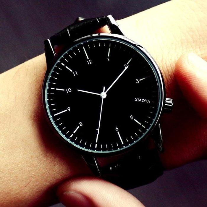 手錶女士學生正韓時尚潮流防水簡約夜光男錶皮帶女錶情侶手錶一對