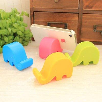Color_me【P011】韓風創意造型支架 迷你可愛小象支撐架 手機座 五彩繽紛顏色 名片座