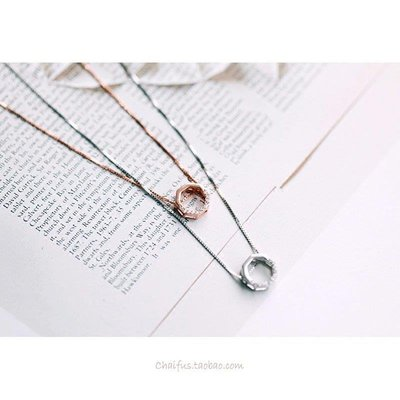哆啦本鋪 Y15 925純銀項鏈簡約幾何鏤空設計六邊形甜美鎖骨鏈禮物D655