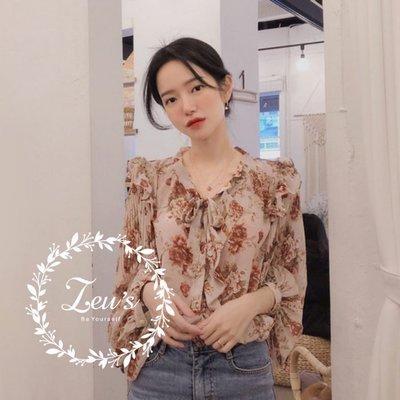 【ZEU'S】韓國甜美浪漫雪紡衫『 02119824 』【現+預】B