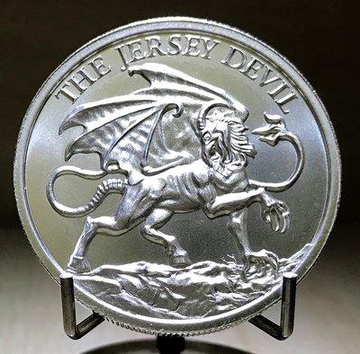 «自由銀»The Jersey Devil 高浮雕款-澤西島惡魔銀幣 (2 toz=62.2g)