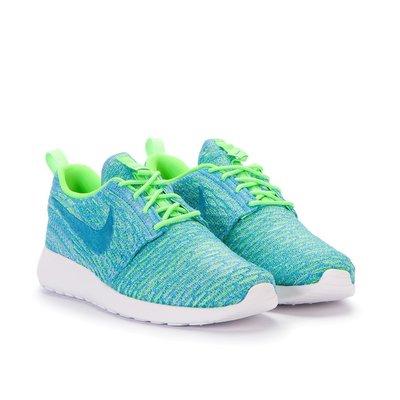 =CodE= NIKE W ROSHE ONE FLYKNIT 雪花編織慢跑鞋(綠藍) 704927-304 RUN 女