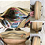 低價起標~安娜蘇Anna Sui 牛皮斜背包 真皮側背包 皮革手工書包 帆布斜跨包 似Cowa參考 托特包
