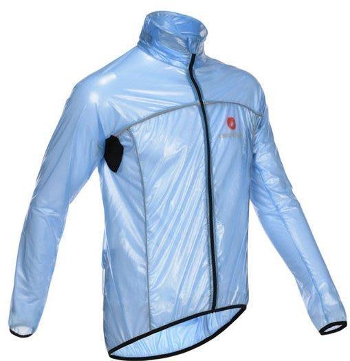 【購物百分百】新款castelli蝎子戶外運動透明風衣 自行車騎行風衣 防風防雨風衣雨披 藍色
