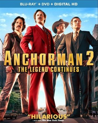 【藍光電影】王牌播音員2:傳奇繼續 (2013)/王牌播音員2/Anchorman 2: The Legend Continues 39-055