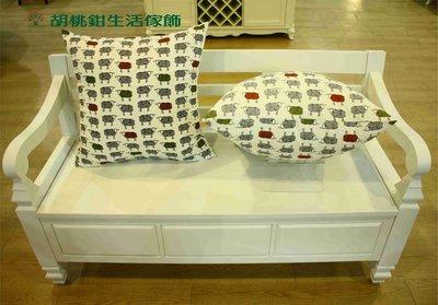 【胡桃鉗生活傢飾】可愛綿羊/貓頭鷹純棉抱枕(60*60cm)~腰靠枕~墊腳枕~...C01-6