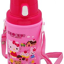 【三元】日本製 Hello Kitty 可背式 2way 彈蓋 直飲式 杯蓋式 兒童水壺