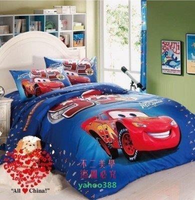 美學6迪士尼 閃電麥坤A1.2M單人床件組 床包組(被套枕頭套床包)-❖72181