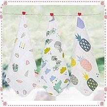 ☆貝克比比屋☆高密度30*30雙層紗布巾 / 口水巾 / 餵奶巾 / 精梳棉小方巾