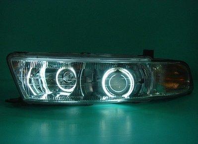 》傑暘國際車身部品《 手工鍛造三菱GALANT 99年晶鑽光圈魚眼大燈5000元.不含大燈
