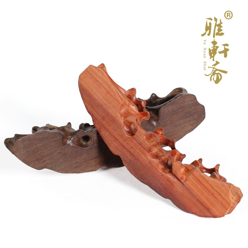 雅軒齋 隨形鏤空紅木雕刻山形毛筆擱毛筆架筆山 紅檀木質筆擱 筆