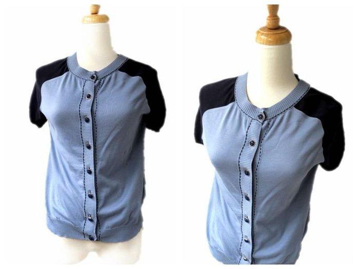 *Beauty*MARC JACOBS 水鑽藍色短袖針織衫  WE16