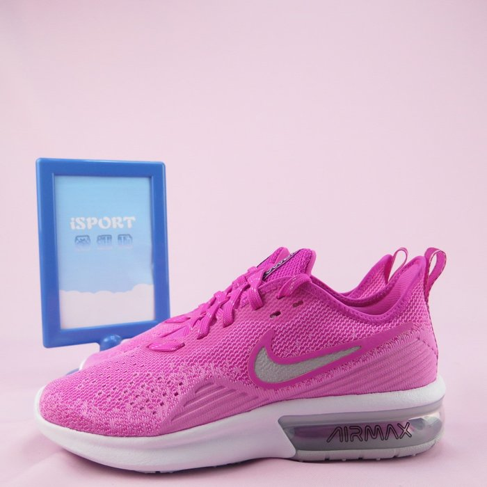 【iSport愛運動】 WMNS NIKE AIR MAX SEQUENT 4 慢跑鞋正品 AO4486601 女款 粉