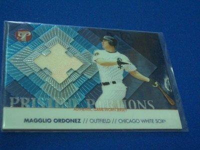 阿克漫259-1~MLB-2002年Topps Pristine限量1000張球衣特卡Magglio Ordonez只有一張
