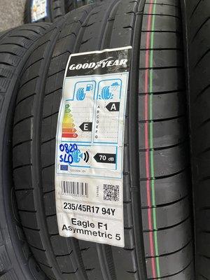 百世霸 專業定位 固特異輪胎 F1A5 235/45/17 3850/完工ps4 Benz ford Audi vw富豪