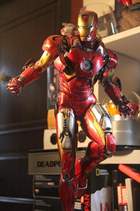 【預購】GK定制,漫威1/4鋼鐵人MK7手辦,戰損版,馬克7模型雕像擺件  1/4尺寸,高約65CM