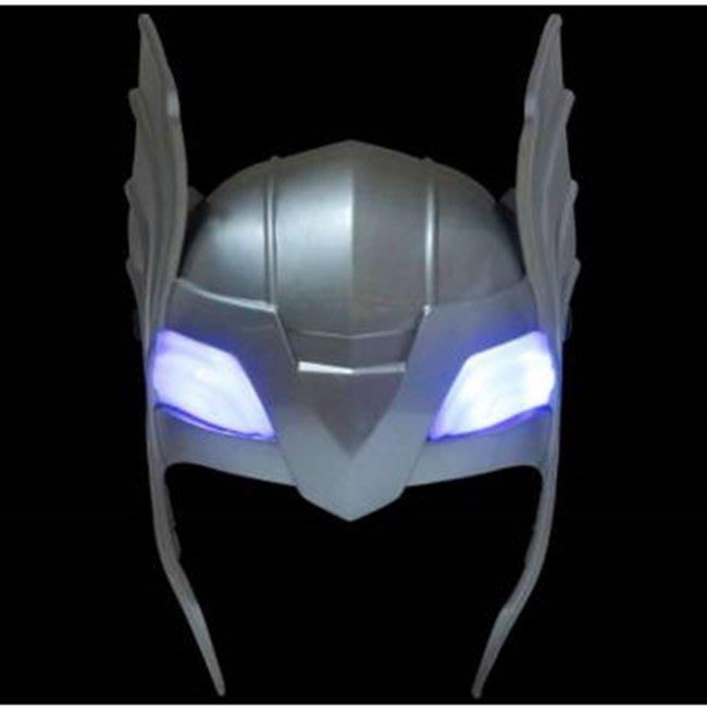 LED 發光 雷神 索爾 面罩 面具 神錘 槌子 鎚子 蜘蛛人面具 復仇者聯盟 萬聖節【塔克玩具】