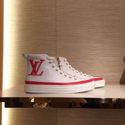 全新正品LV 路易威登 19新款  logo刺繡 STELLAR 高幫鞋