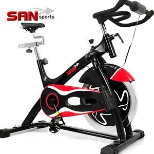 ⊙哪裡買⊙SAN SPORTS黑爵士23KG飛輪健身車C165-023 (6倍強度.23公斤飛輪車.室內腳踏車推薦)