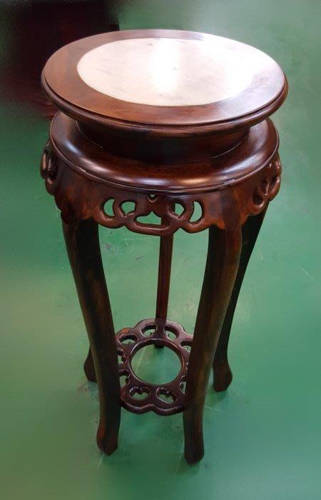 樂居二手家具 全新中古傢俱賣場 ZM0218AJE*雞翅木花架 實木藝品展示架*仿古家具買賣 雕刻藝品 書法 字畫