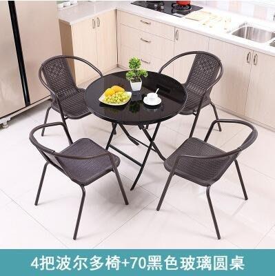 方桌子折疊桌餐桌家用吃飯簡易桌便攜戶外擺攤圓桌鋼化玻璃小戶型