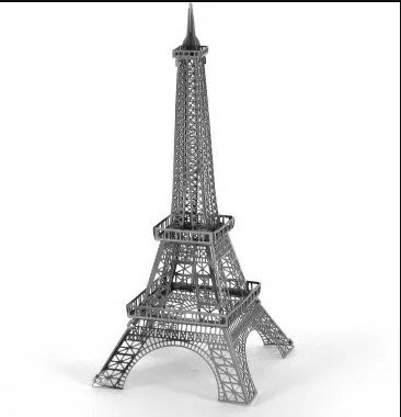 迷你3D鐵片模型 建築 巴黎鐵塔