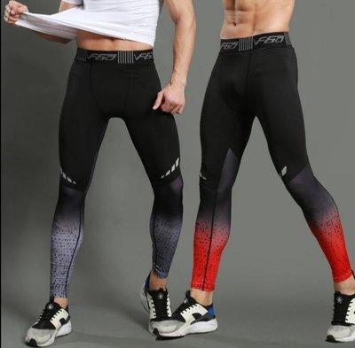 型男高彈運動緊身褲跑步健身訓練速幹打底褲器械教練健美體操長褲—莎芭