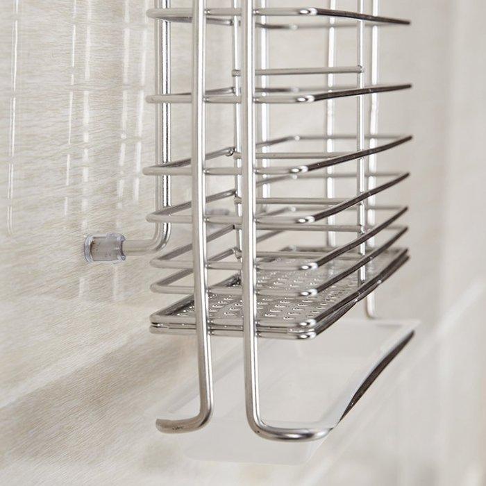 【免運】廚房用品304不銹鋼筷子筒 壁掛式家用瀝水勺筷籠子筷筒架收納盒廚房置物架