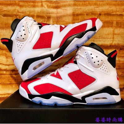 "正品爆款 Air Jordan 6 Retro ""Carmine"" 紅白 CT8529-106 免運"