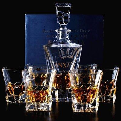 高品質水晶玻璃威士忌杯創意洋酒杯紅酒杯白蘭地杯酒具套裝yi   全館免運