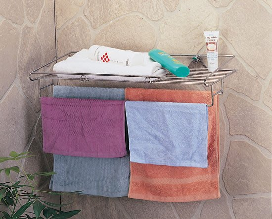 ☆成志金屬☆s-82-1b 304不銹鋼廚房浴室置物架大尺寸附雙毛巾桿,不鏽鋼