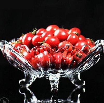 歐式大號水晶玻璃果盤現代客廳創意家用沙拉碗糖果幹果水果盤子YSY